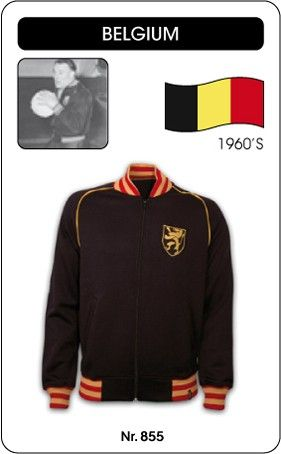 Rode Duivels retro voetbal truitje football soccer vintage sport COPA België voetbal jacket jaren '60 Belgium