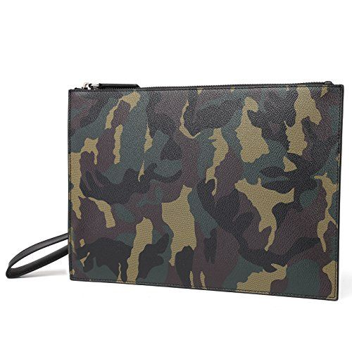 BABAMA New Camo Men Leather Clutch Bag Youth Fashion Trend Zip Wristlet Purse Handbag ➤HIGH QUALITY MATERIAL --- Made with high quality leather and light custom antioxygenic hardware as well as durable fabric lining, which make the leather clutch bag more luxury and durable. ➤100% HAND MADE --- This is a clutch that takes more than a month to complete, from material purchase to cutting, sewing, gluing, packing and final quality check, all by hand. The density of each sutu