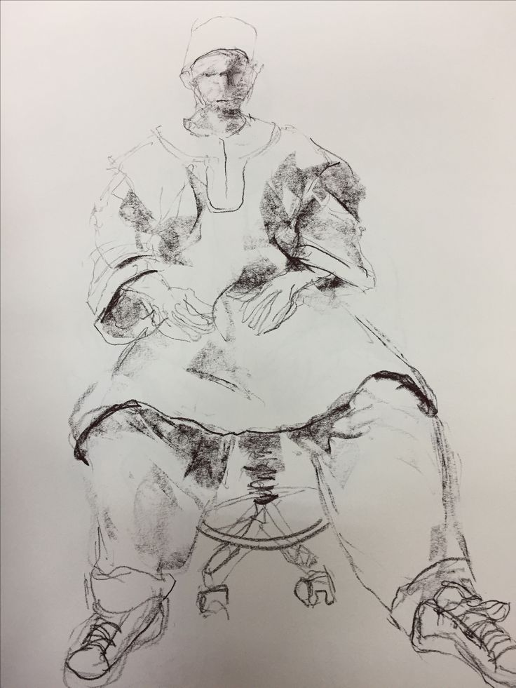Life drawing, carcoal, Esther Eggink