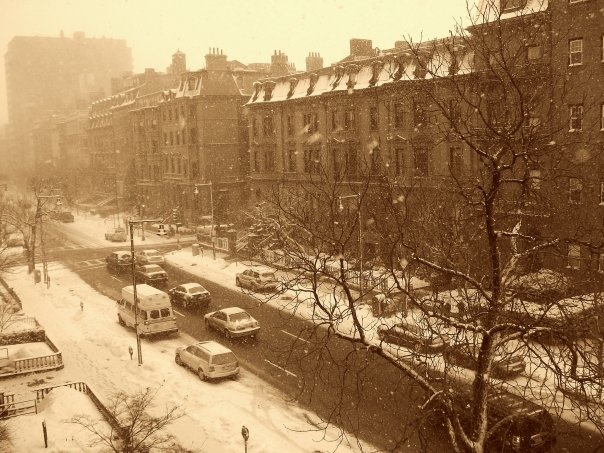 Location, location, location.This picture was taken by a Fisher student from her Residence Hall on Beacon Street in Boston.    - Fisher College -