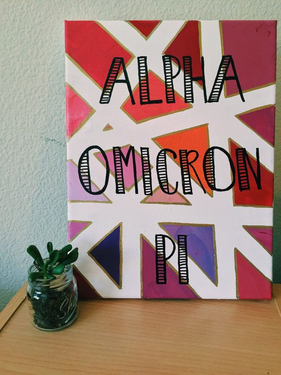 Custom Sorority Canvas Mosaic & Gold by CaliCanvas on Etsy
