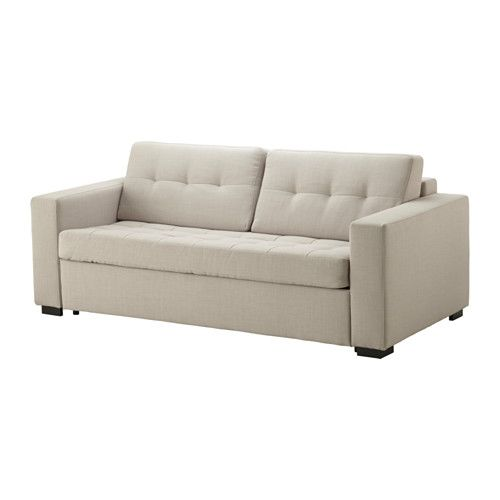 IKEA - КЛАГСТОРП, Диван-кровать 3-местный, , Легко превращается в кровать.Подходит для ежедневного использования.Спинная подушка остается на месте благодаря молнии.