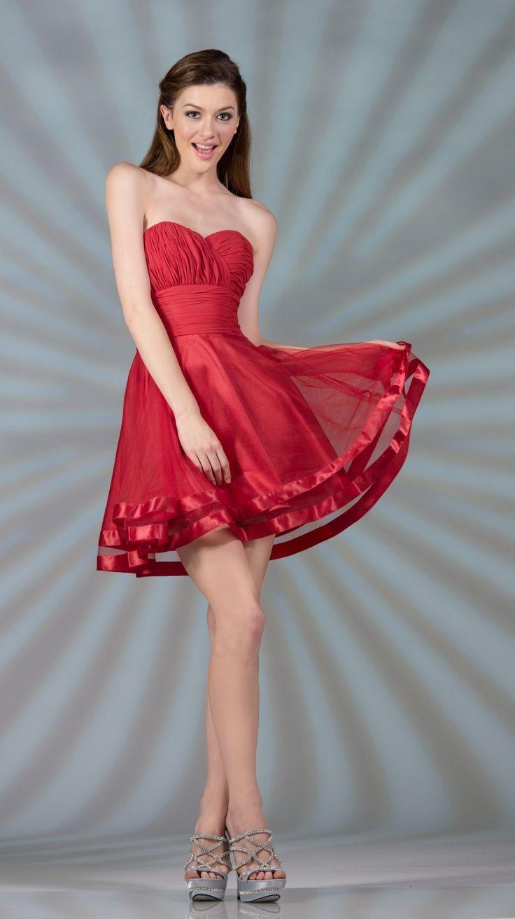 original short red dress outfit 12