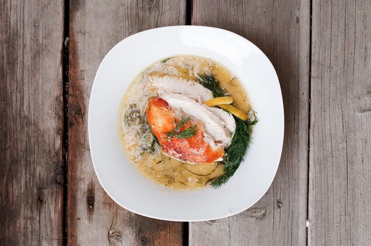 Roast Chicken with Lemon & Dill