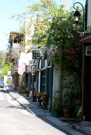 I love the back streets of St. Augustine, Florida, and the small restaurants tucked away in the corners.