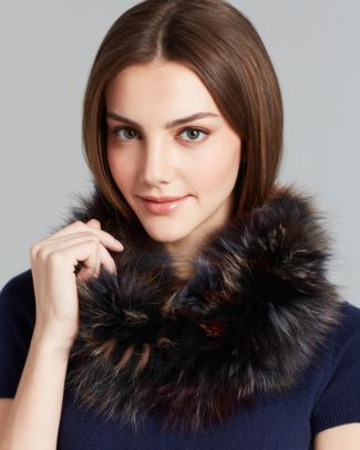 Surell Multicolored Fox Fur Loop Scarf Bloomingdales