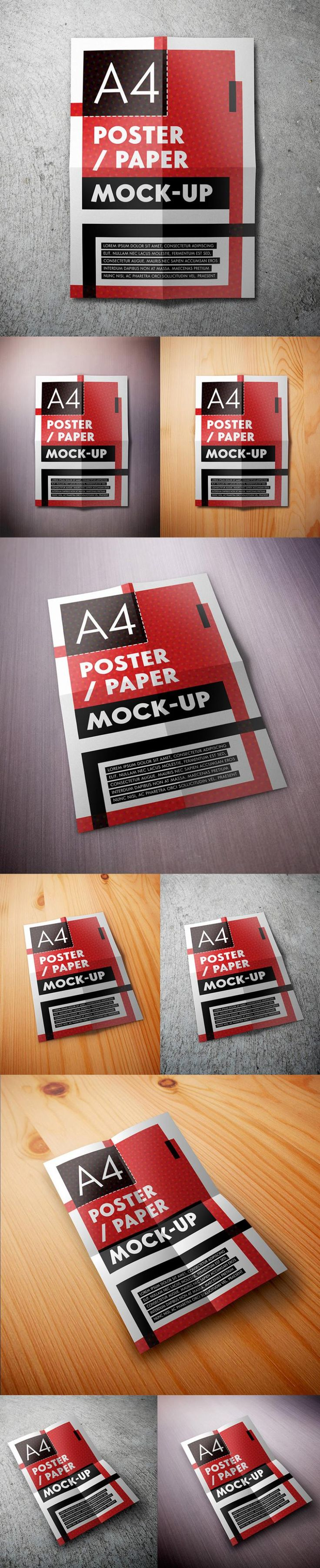 Free A4 Poster Mockups