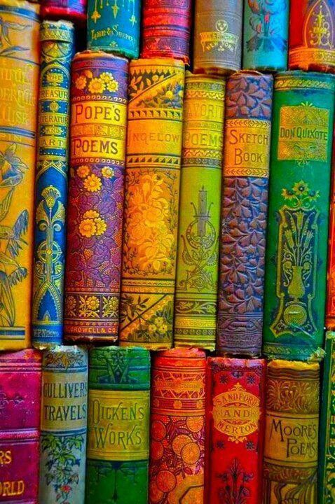 Books - Love the colors or the filter they used on the camera