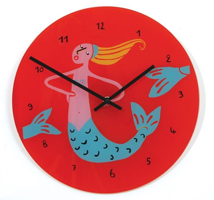 Zegar dziecięcy Lilu Marmaid - NEXTIME - DECO Salon #giftidea #gift #forkids #clock