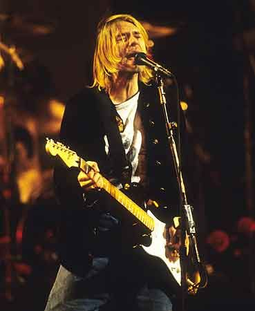 Kurt Cobain at Nirvana concert