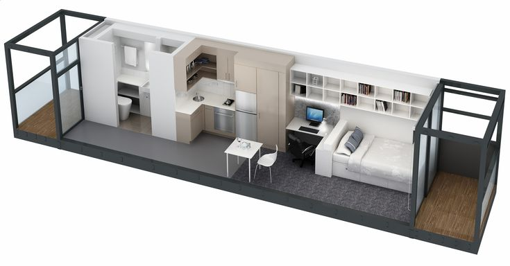 Container House - This sites formatting is a little weird but its the only place I found the Idea of making three shipping containers into two apartments - see the floor plan - Who Else Wants Simple Step-By-Step Plans To Design And Build A Container Home From Scratch?