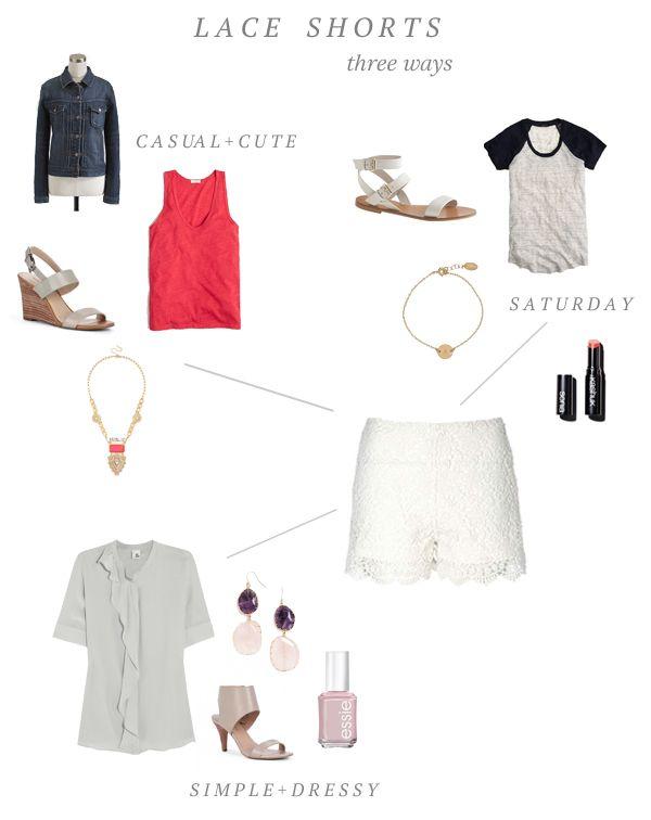 Style Inspiration: lace shorts