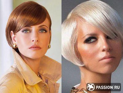 Короткие стрижки с прямой челкой фото. На короткие волосы. Pricheski-Modno.ru