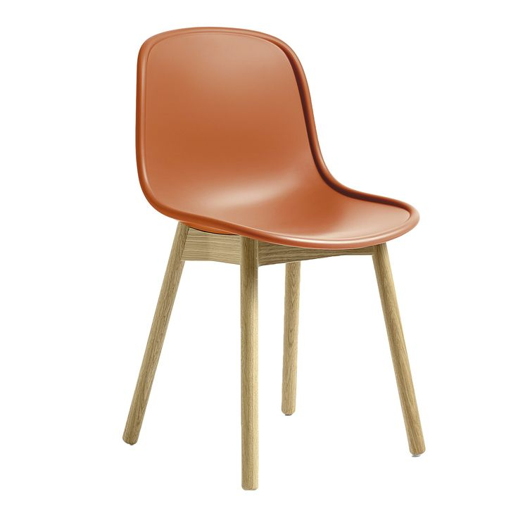 Chaise NEU 13 orange base chêne - WRONG FOR HAY