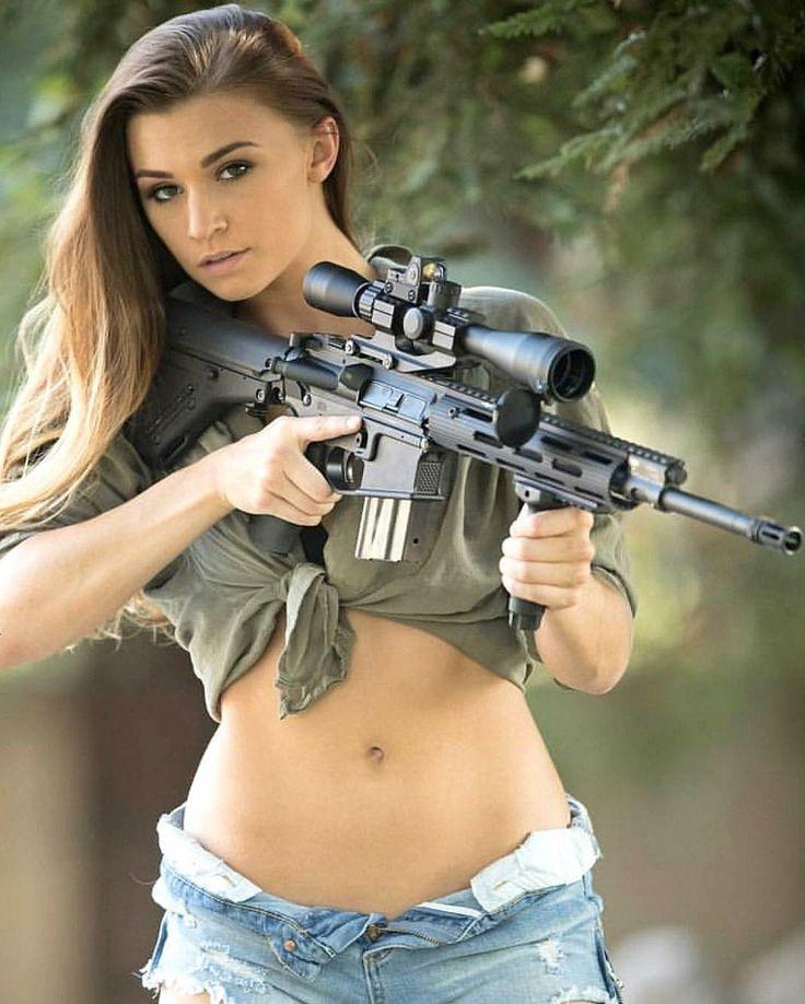 Hot girls hunting something