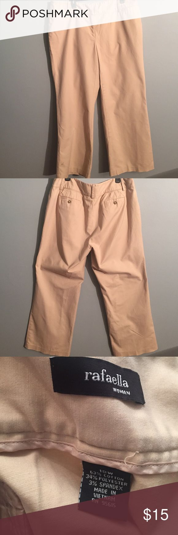 "Rafaella pants Rafaella khaki pants, inseam 30"" Rafaella Pants Boot Cut & Flare"