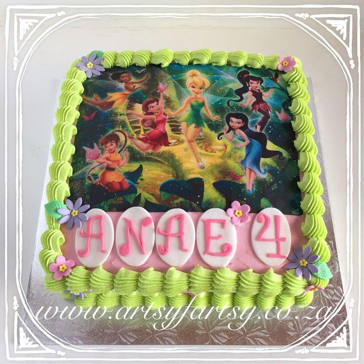 Tinker Bell Cake #tinkerbellcake