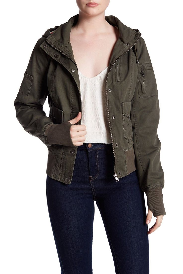 Hooded Bomber Jacket by BNCI by Blanc Noir on @nordstrom_rack