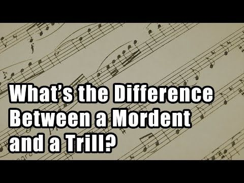 What's the Difference Between a Mordent and a Trill