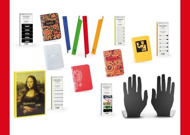 Rund ums Buch und mehr. Ein Notizbuch, Lesezeichen, Passport-Hüllen, Lineale und natürlich Buchstützen. Ab in den Urlaub, nach Balkonien oder woanders hin.