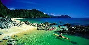 Abel Tasman National Park. It really is like this.