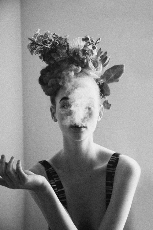 { smoke and flowers }