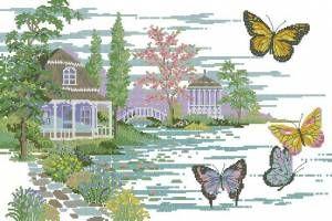Конец лета - Пейзажи, здания - Схемы вышивки - Иголка