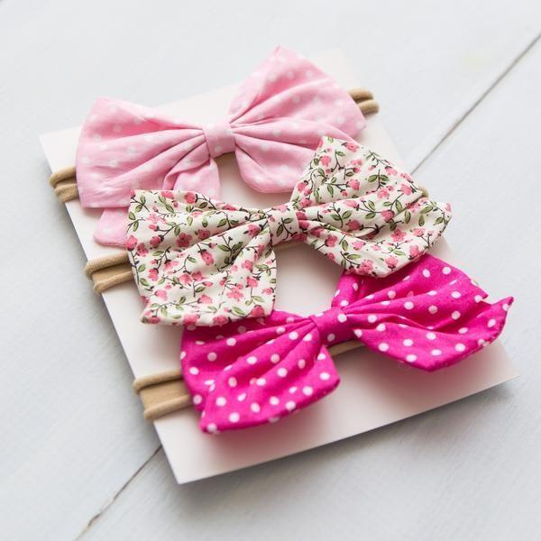 girl Solid Black bow headband pigtail set toddler headbands pigtail set hair clips baby headbands little girl bows newborn headbands
