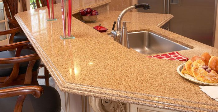 Caramel Quartz Countertops For The Kitchen For The Home