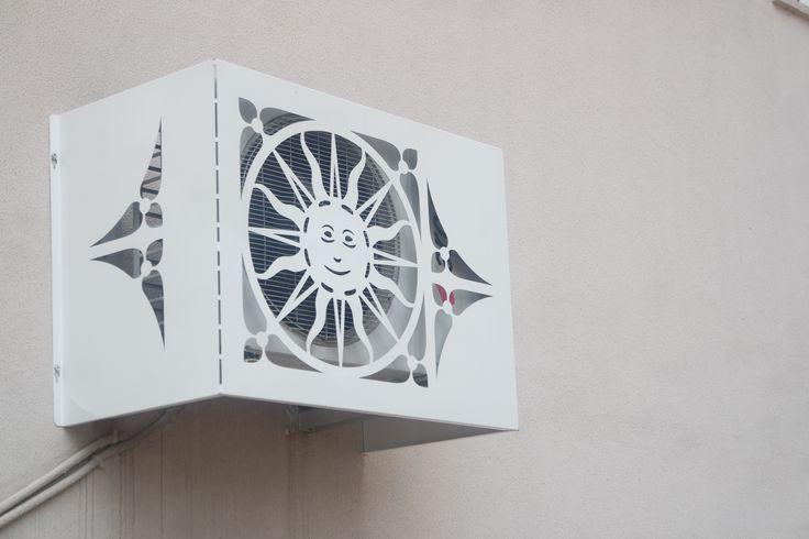 klim görüntü kirliliğine dekoratif klima gizleme panelli   çözümleri