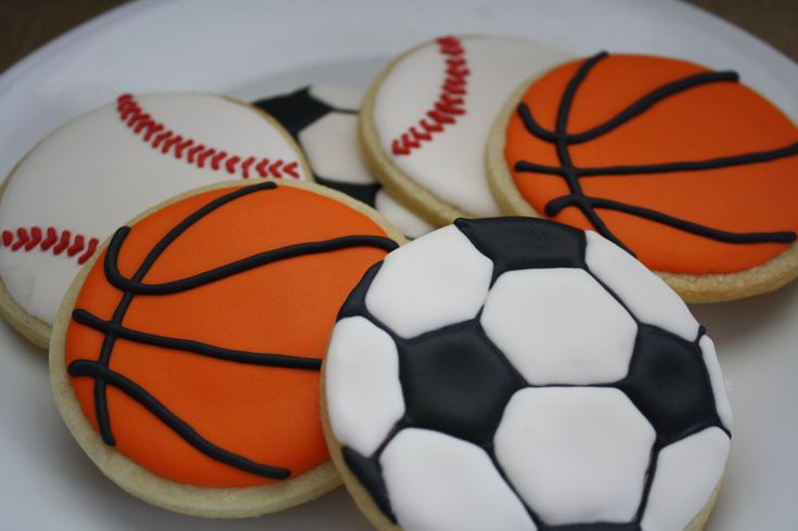 1 DOZEN SPORTS COOKIES - Sports Theme Sugar Cookies with Royal Icing -Sports Theme Baby Shower - Sports Birthday Party - Sports Party Favors