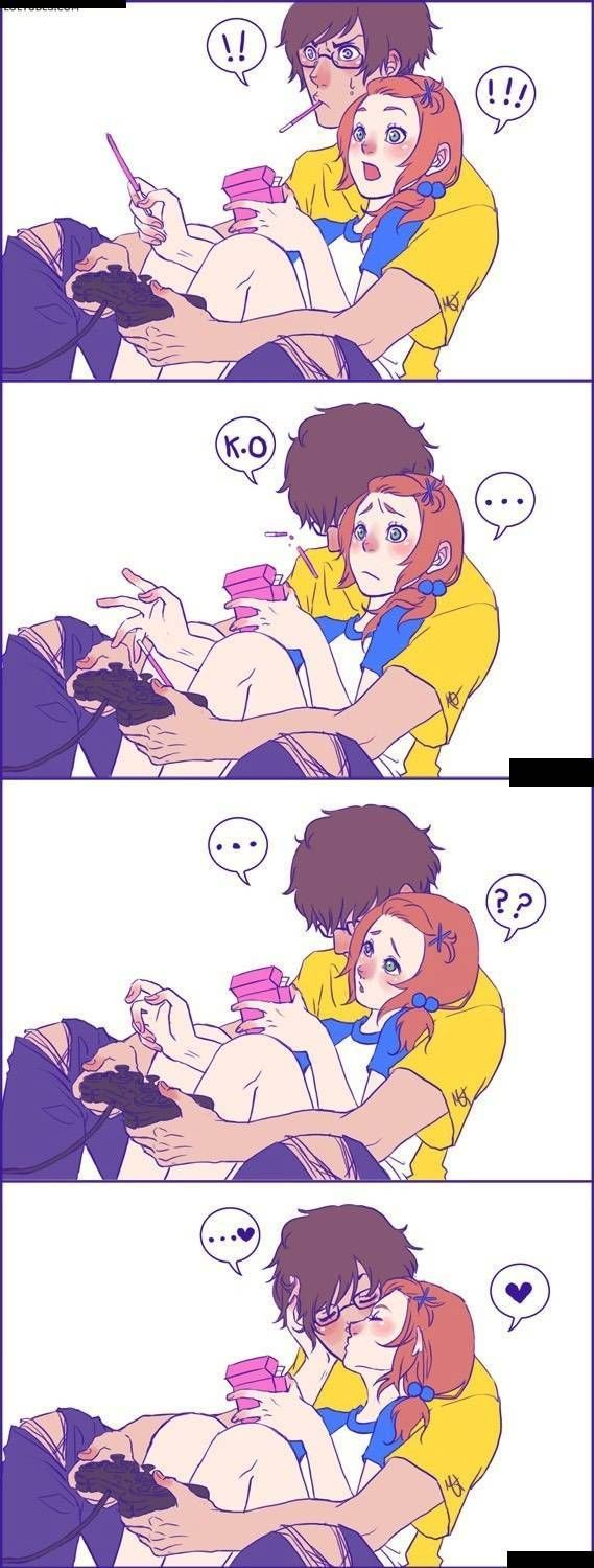 Backup Plan? At least when the game ends, gamer couples have this. Anime couple this is perfect