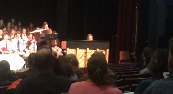 Piano and flute duet at the 2016 Tri-M Induction Ceremony.