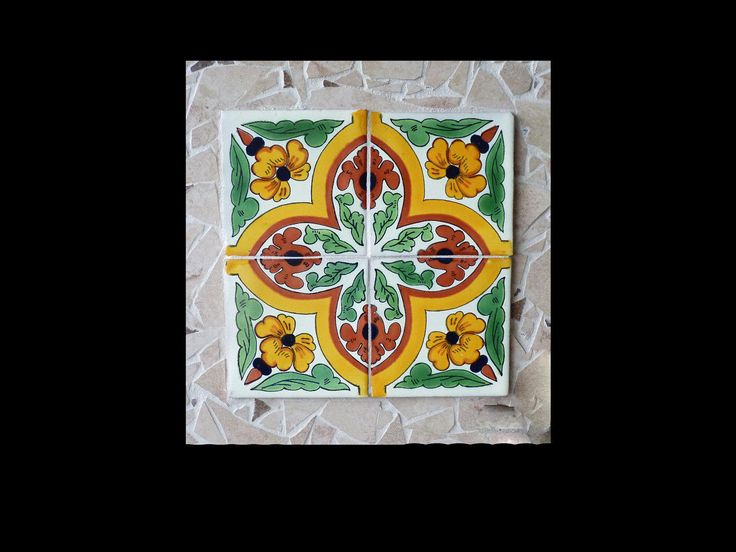 Mosaic Southwestern Wall Hanging or Trivet Made with Mexican Tiles by KateSutcliffeMosaics on Etsy