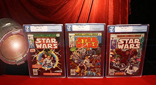 Rare STAR WARS Comics #1, 2, 3 Professionally Graded PGX Sealed, Encapsulated //Price: $475 & FREE Shipping //     #starwarscollection