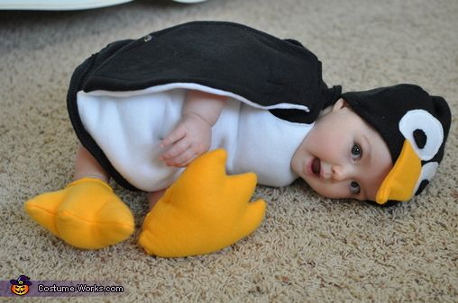 Mary: Abby James is 9 months old and she is a flying penguin. My husband likes penguins, so when I asked him what he wanted our first baby to be on...