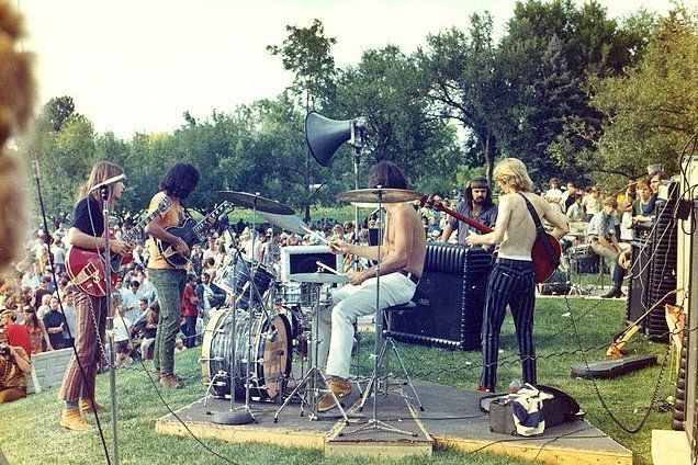 "Classic Rock In Pics on Twitter: ""The Grateful Dead performing at City Park in Denver, 1967 https://t.co/xUjMpxPDDL"""