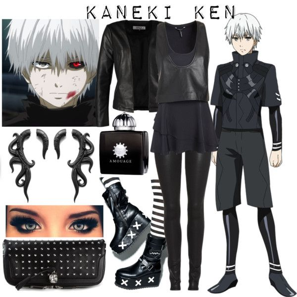 Anime inspired outfit (Kaneki Ken - Tokyo Ghoul) by miyu-san on Polyvore featuring moda, Marissa Webb, ONLY, Helmut Lang, Y.R.U., Alexander McQueen, AMOUAGE, anime, tokyoghoul and animecosplay