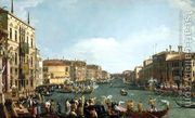 A Regatta on the Grand Canal c. 1732  by (Giovanni Antonio Canal) Canaletto