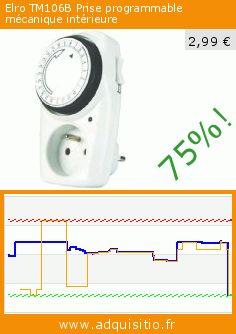 Elro TM106B Prise programmable mécanique intérieure (Outils et accessoires). Réduction de 75%! Prix actuel 2,99 €, l'ancien prix était de 11,98 €. https://www.adquisitio.fr/elro/tm106b-prise-programmable