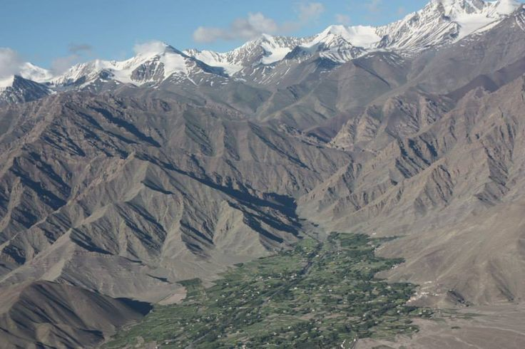 Aerial view of Stok Village. #Ladakh #India #Travel