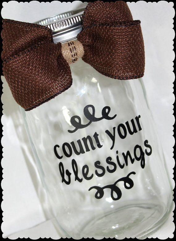 Blessings Jar Count Your Blessings Jar Thankful By