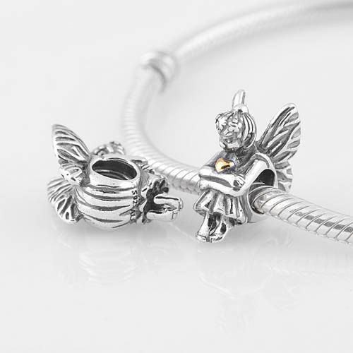 100% 925 Sterling Silver Sitting Pixie Fantasy Bead by VIPbeads