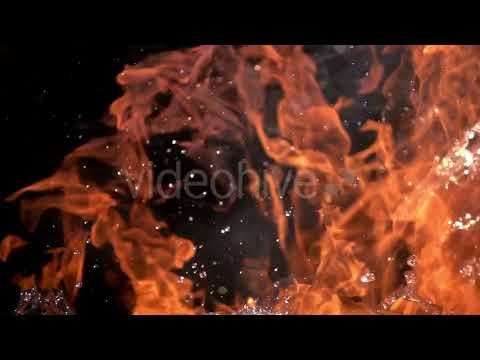 Fire and Water (Stock Footage)