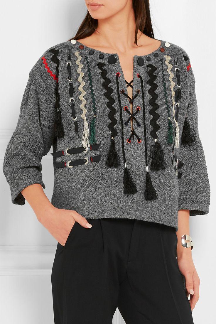 Toga | Appliquéd cotton sweater | NET-A-PORTER.COM