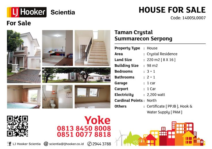 FOR SALE: Taman Crystal @ Crystal Residence, Summarecon Serpong