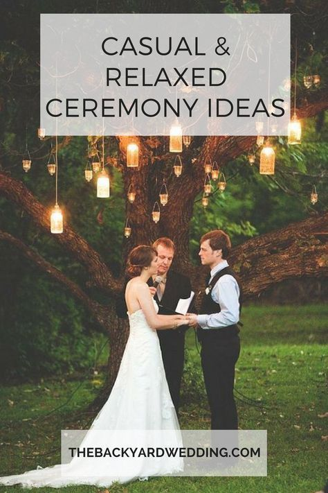 relaxed casual backyard wedding ceremony alternative non-traditional