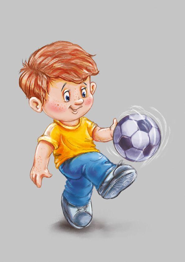 Детские картинки дети с мячом