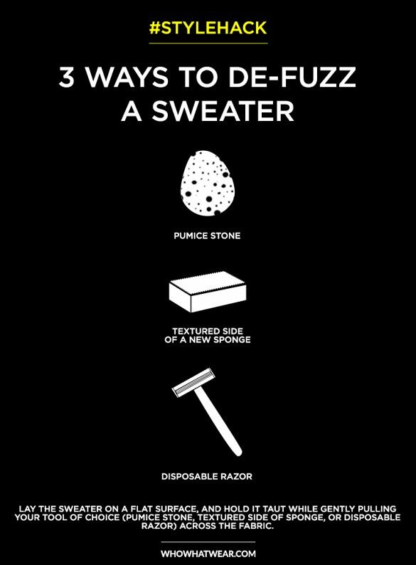How To Remove Sweater Pills Fuzz Hack