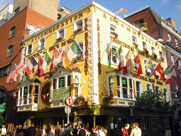 Temple Bar, la zona de marcha del centro de Dublín